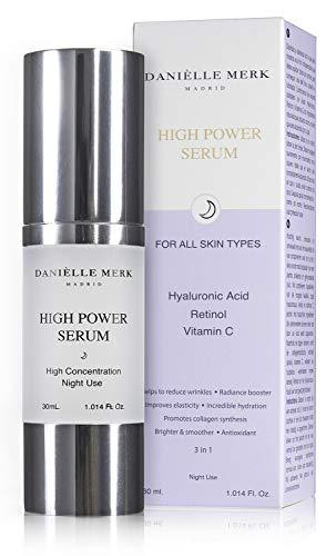 DANIÈLLE MERK - High Power Serum - Serum Facial - Tratamiento Antienvejecimiento, Antimanchas Con Retinol, Vitamina C Y Ácido Hialurónico Puro - 30 ml