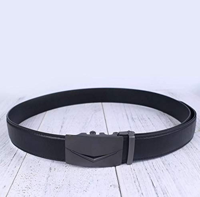 Mens Belts Luxury Real Leather Belts for Men Metal Buckle Jeans Pants Genuine Leather Belt (Size   120CM)