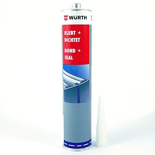 Würth Klebt + Dichtet PU Montageklebstoff Kleber Dichtmittel schwarz 08901003