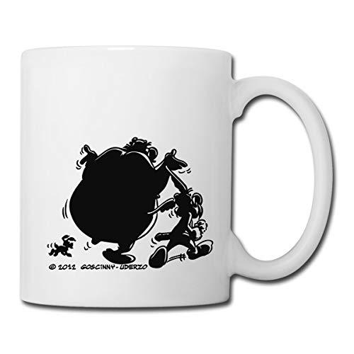 Asterix & Obelix - Schatten Spaziergang Mit Idefix Tasse, Weiß