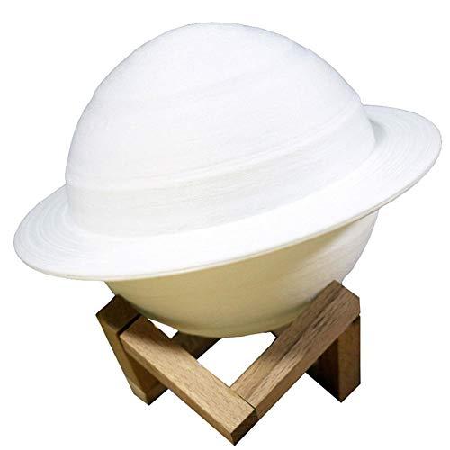 WopenJucy) Home Nachtlicht LED-Lampe Saturn Lampe Tischlampe, Touch dreifarbiges Modell, 15 cm, PLA Berührungssensitives Nachtlicht für Schlafzimmer Wohnzimmer und Büro
