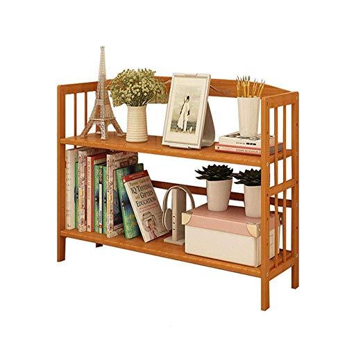 Yankuoo multifunctionele boekenkast, eenvoudige moderne kleine boekenplank voor kinderen, vloer 2 lagen creatieve combinatie eenvoudig te monteren boekenplank 78 * 25 * 58cm Hout
