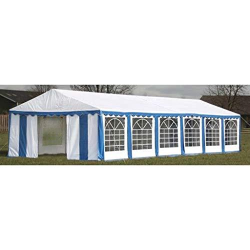 Euroland - Gazebo pieghevole per feste, 12 x 6 m, colore: Blu
