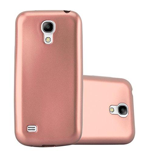Cadorabo Hülle für Samsung Galaxy S4 Mini - Hülle in METALLIC Rose Gold – Handyhülle aus TPU Silikon im Matt Metallic Design - Silikonhülle Schutzhülle Ultra Slim Soft Back Cover Case Bumper