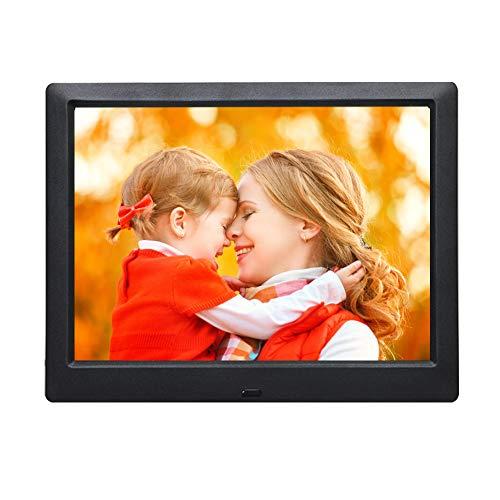 9-Zoll-Digitalfoto-Bilderrahmen mit Fernbedienung, Foto-Video-MP3-Player / 4 Windows/Kalender/Wecker / 6 Sprachen Elektronische Foto-Bilderrahmen unterstützen USB-Laufwerk SD/MS/MMC/SDHC-Karte