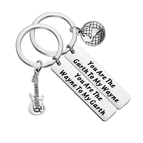 FAADBUK Wayne's World Set Keychain Wayne's World Fans Inspired Gift You're The Wayne to My Garth Jewelry for Best Friend Couple (Wayne & Garth K-S)
