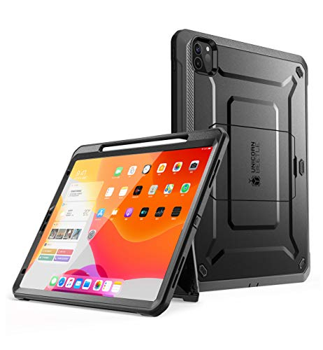 SupCase iPad Pro 11 Zoll Hülle 2020 Bumper Case 360 Grad Schutzhülle Robust Cover Support Apple Pencil Laden [Unicorn Beetle PRO] mit eingebautem Displayschutz und Ständer (Schwarz)