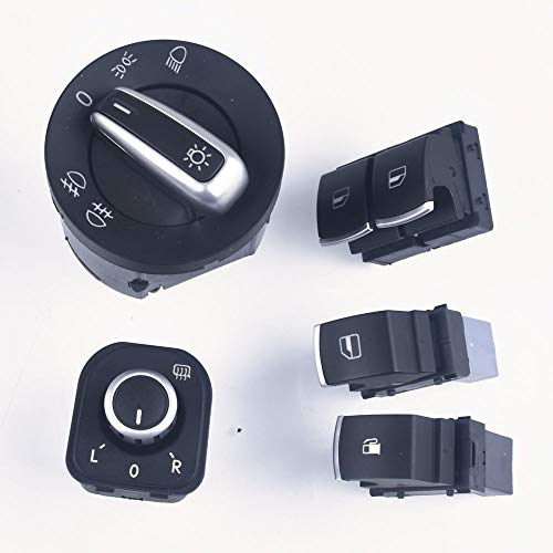 xy Control de Espejo For VW EOS Golf MK5 MK6 GTI Scirocco Polo Conejo 2 Interruptor de la Puerta Ventana Faros Espejo retrovisor Interruptor de Control de Espejo retrovisor