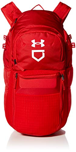 Under Armour Men's Yard Baseball Backpack , Red (600)/White , One Size Fits All