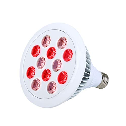 Lowest Prices! Exceart Led Infrared Light Near Infrared Combo Red Light Bulb for Skin and Pain (With...