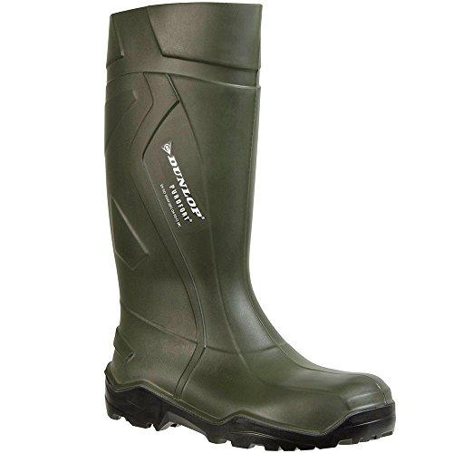 Dunlop D760933 Purofort+ GROEN 48, Unisex-Erwachsene Langschaft Gummistiefel, Grün (Grün(Groen) 08), 48 EU