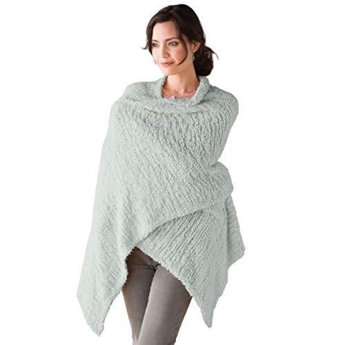 DEMDACO Giving Shawl Women's One Size Soft Knit Nylon Wrap in Gift Box, Sage Green