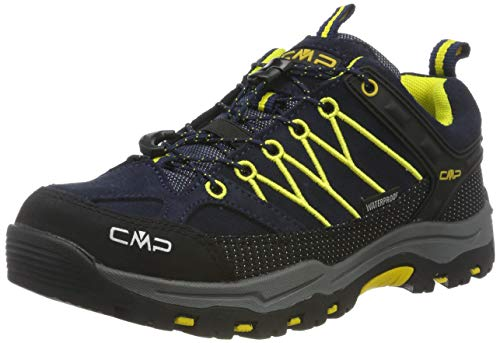 CMP Kids Rigel Low Trekking Shoes Wp, Scarpe da Arrampicata Basse Unisex-Bambini, Blu (B.Blue-Zafferano 11nd), 36 EU