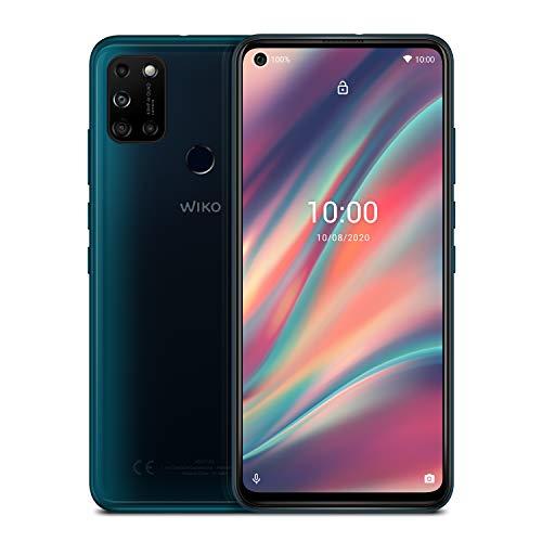 WIKO VIEW5 Smartphone (6,55 Zoll (16,63 cm), 5000 mAh Akku, 48 MP KI-Quad-Kamera, O-Display, 64GB + 3GB, Dual-SIM, Android 10) - Pine Green