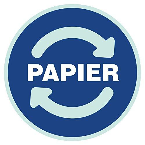 Aufkleber PAPIER Mülltonne Abfall Recycling Wertstoffkennzeichnung 9 cm rund