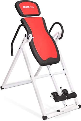SportPlus Inversionsbank, klappbarer Schwerkrafttrainer, Inversion Table mit 6 Inversionswinkel, Streckbank zur Entlastung der Wirbelsäule, Nutzergewicht bis 135 kg, Rückenstrecker, Sicherheit geprüft