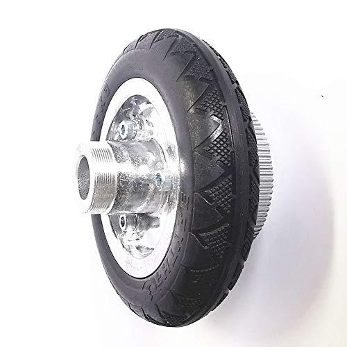 Scooter eléctrico neumáticos antideslizantes resistentes al desgaste 6x1 1/4, incluidas las ruedas, adecuado para el reemplazo de ruedas de transmisión por correa scooter 6 pulgadas,Solid wheel