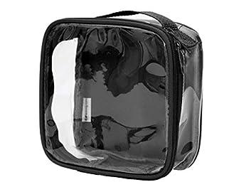 Clear TSA Approved 3-1-1 Travel Toiletry Bag/Transparent See Through Organizer  Black