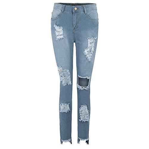 Bleistifthosen Zerrissene Jeans Damen Stretch...