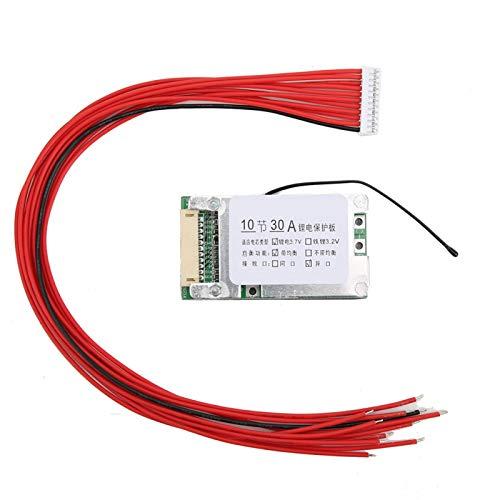Placa de protección, 10S 36V 30A Li-ion Cell 18650 Protección de batería...