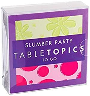 TableTopics to GO Slumber Party - 40 Fun, Thought Provoking Conversation Cards for Girls. Gifts for Girls, Daughters, and ...