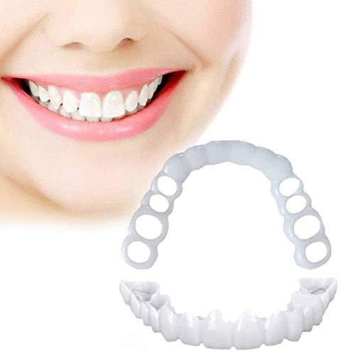 jdiw Zähne Prothese Perfect Smile Snap-On Braces Instant Perfekte Smile Comfort Fit Flex Zähne Veneers Einheitsgröße Fake Teeth Cover