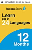 Rosetta Stone Learn ONE of 24+ Languages 12 Months   PC/Mac/iOS/Android Online Code