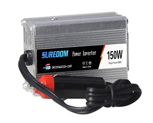 HKPLDE 150W Inversor De Corriente 12V A 110V Transformador Fuente De Alimentación De Respaldo del Convertidor con Doble 2 Puerto USB para RV, Casa, Uso del Coche-24V