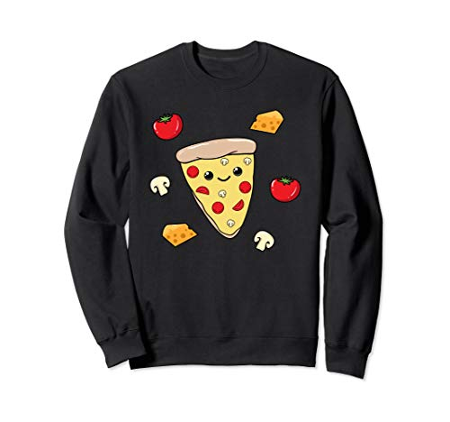 Süßes Funghi Pizza Shirt Pizzastück Mädchen Fast Food Sweatshirt