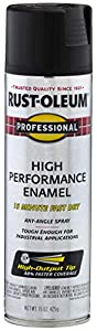 Rust-Oleum 7578838 - 6 PK Professional High Performance Enamel Spray Paint, 15 oz, Flat Black, 6 Pack