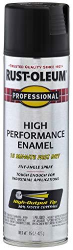 Rust-Oleum 7578838-6 PK Professional 7578838 High Performance Enamel Spray Paint 15 oz, Flat Black, 6-Pack, 6 Pack