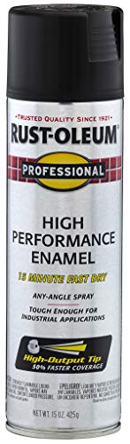 Rust-Oleum 7578838 Enamel Spray Paint, 15 Oz, Flat Black
