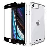 LOFTer Klar Hülle Kompatibel mit iPhone SE 2020 Hülle & 2 Stück Panzerglas Schutzfolie Durchsichtig iPhone 8 Handyhülle Transparent Schutzhülle für iPhone 7 / iPhone 8 / iPhone SE 2020 4.7