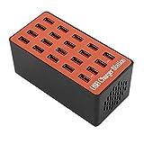 KoelrMsd A5 Cargador USB rápido múltiple Carga Múltiple 20 Estación de Carga de teléfono USB Cargador Inteligente HUB USB Universal