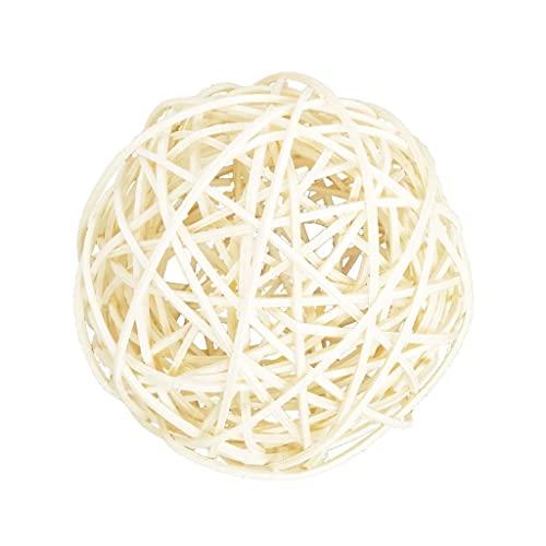 Bolas de ratán de Mimbre Grandes Blancas de 100 mm - Bolas Decorativas para Cuencos, Relleno de jarrones, decoración de Mesa de Centro, decoración de Banquete de Boda