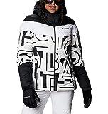 Columbia Abbott Peak Insulated Chaqueta De Esquí con Capucha, Mujer, Blanco, Negro (White Typo...