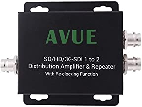 AVUE 3G-SDI/HD-SDI/SDI 1 to 2 Distribution Repeater & Extender with Re-clocking Function