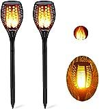 Nestling® Solar Gartenleuchte Fackel 96 LED Realistische Flamme Licht tanzen Effekt, IP65 wasserdichte solarlampen für außen, für Hochzeit Urlaub Dekorative Festival Party Licht (2 Pack)