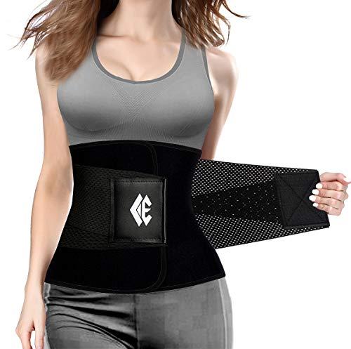 ChongErfei Waist Trainer Women - Waist Cincher Trimmer - Slimming Body Shaper Belt - Sport Girdle Belt (Upgraded Black, XX-Large)