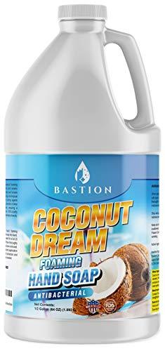 Antibacterial Foaming Hand Soap - Coconut Dream Hand Wash - Half Gallon (64 oz.) Bulk Refill Jug. Coconut Dream Scented. Non-toxic. Made in the USA.(Foaming Dispenser Required)