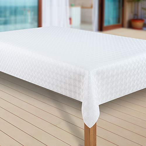 laro Tischdecke Molton Tischläufer Tischpolster Tischschoner Tischunterlage PVC abwaschbare Tischdecke Wasserabweisend Schutz  79 , Muster:Molton, Größe:230x140 cm