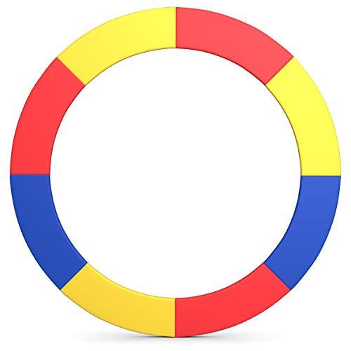 COSTWAY Ø 244cm / Ø305cm / Ø366cm / Ø427cm Cubierta de Borde de Trampolín Cubierta de Resorte Almohadilla de Repuesto Protección para Camas Elásticas (Multicolor, Ø244cm)