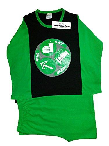 Nubee Fashio Secrets Jungen Schlafanzug Grün Grün