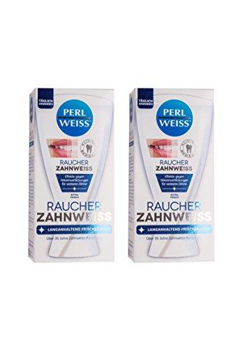 2x Perlweiss Raucher-Zahnweiss 50ml sichtbar weissere Zähne