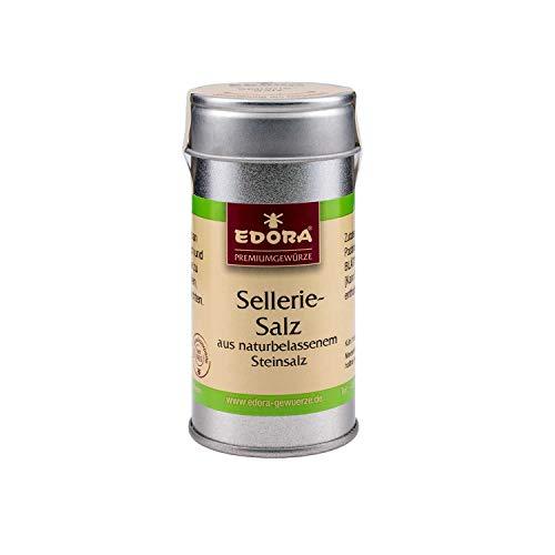 Premium Qualität Gewürz EDORA Streudose Streuer Selleriesalz Sellerie Salz aus naturbelassenem Steinsalz 65 Gramm