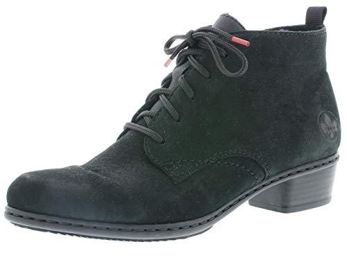 Rieker Damen Stiefeletten Y0743, Frauen Schnürstiefelette, Women's Women Woman Freizeit leger Stiefel Chukka Boot,schwarz,38 EU / 5 UK