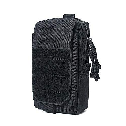 Pochette Molle Tactique extérieure EDC Sac de Ceinture Militaire Sac étanche Compact Pack Organisateur de Gadgets pour Le Sport, la randonnée, l'escalade, Le Camping (Noir)