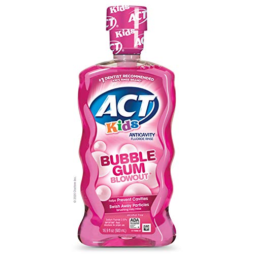 ACT Kids Anti-Cavity Fluoride Rinse Bubblegum Blowout...