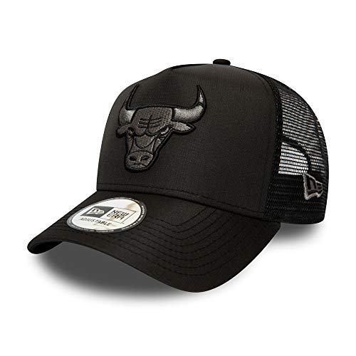 New Era Chicago Bulls NBA Trucker - Gorra de baloncesto (talla única), color negro