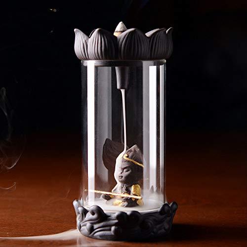 YSSZH Reflux Incense Furnace Winddicht Cartoon Big Holy Indoor Teezeremonie Schaukel Stück Sandelholz Weihrauch Duft Chinesischen Stil Zen Incense Furnace